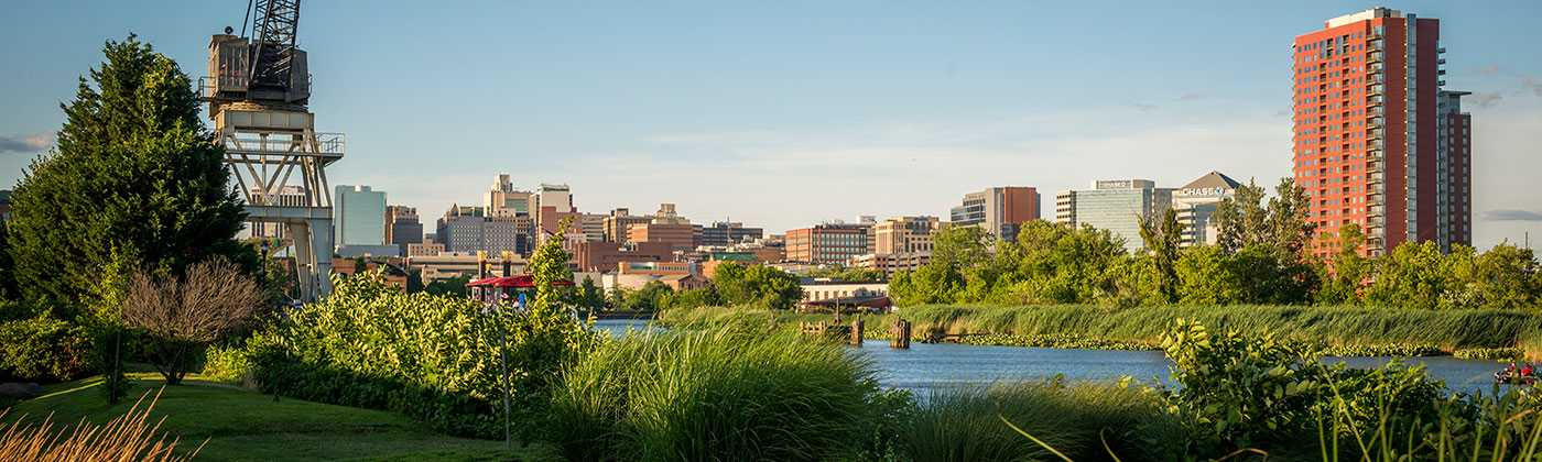 City View from the Wilmington, Delaware Riverfront