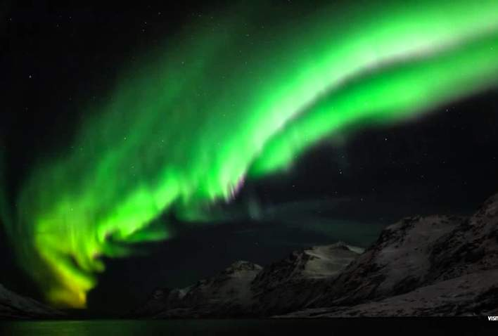 Norway,  home of the northern lights