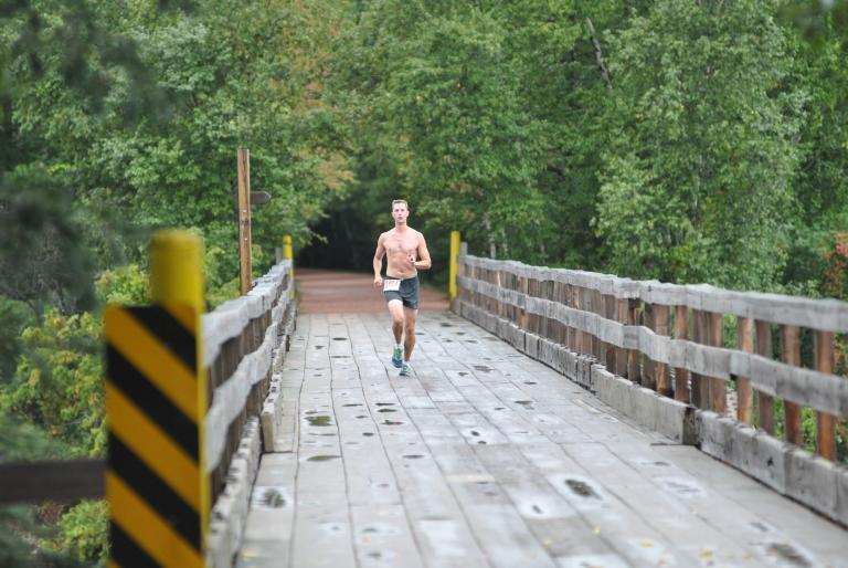 Jogger on trail