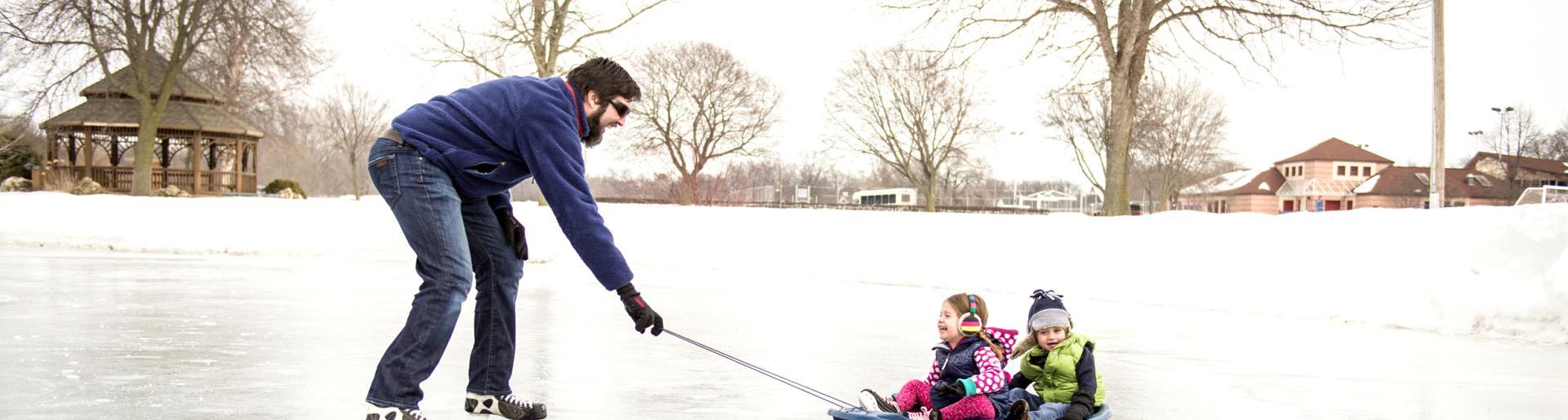Sledding & Skating on Ice in Madison