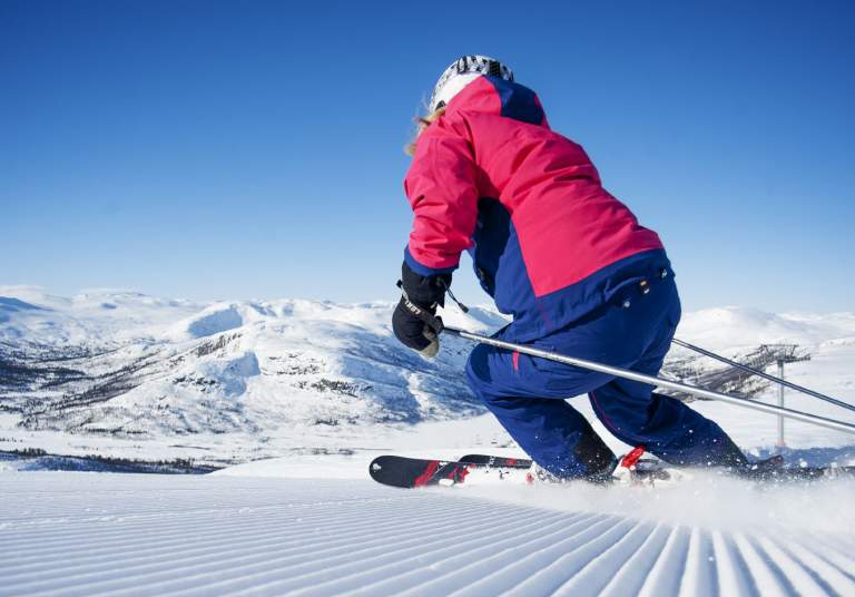 Alpine skiing in Hovden