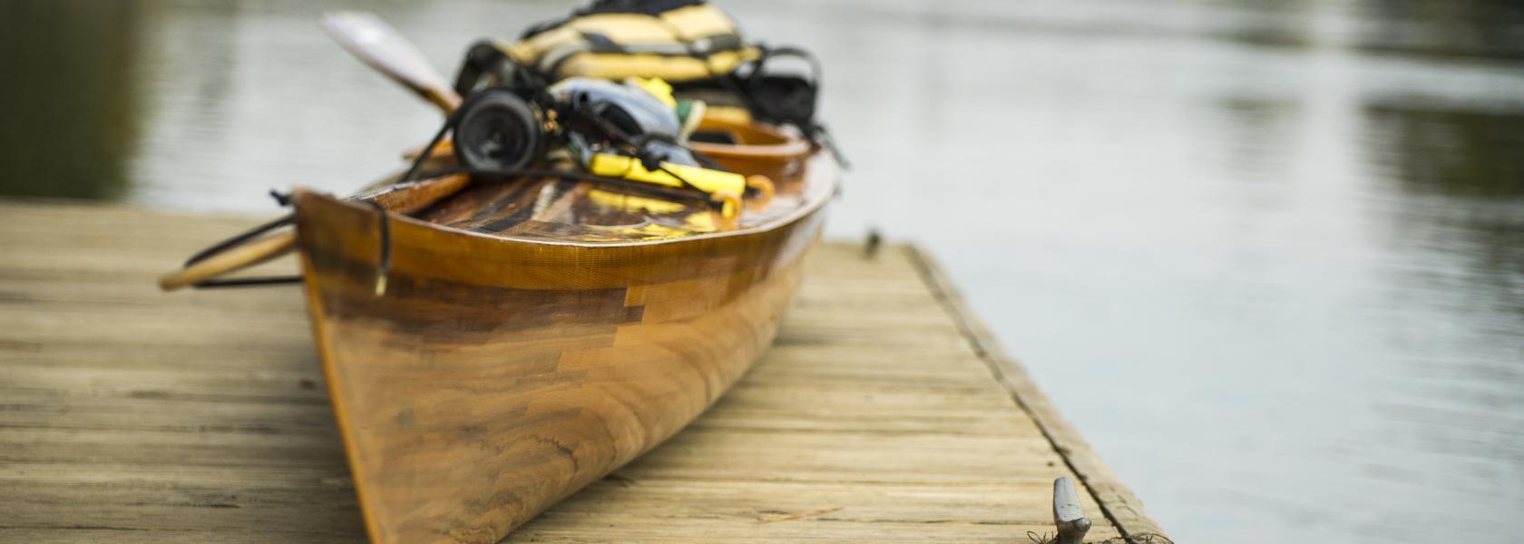 loaded kayak