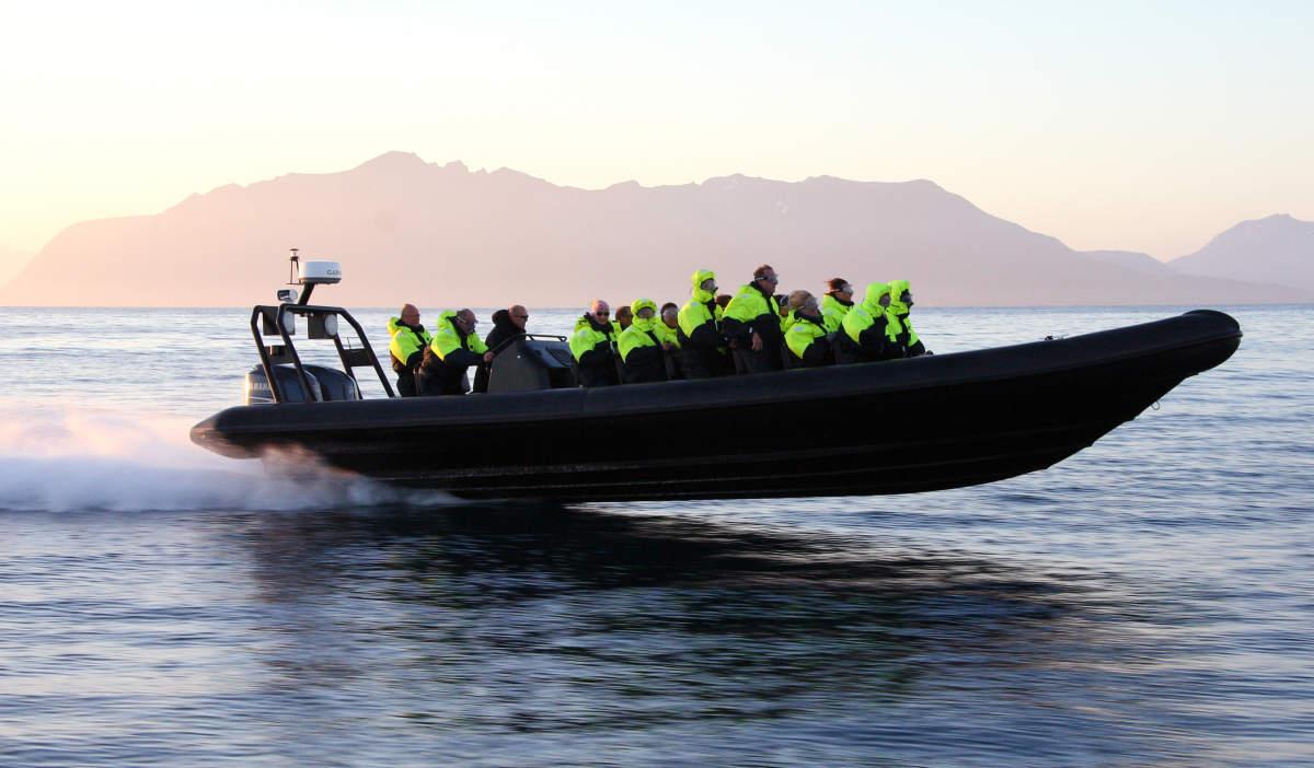 R.I.B. boat in Bjarkoey