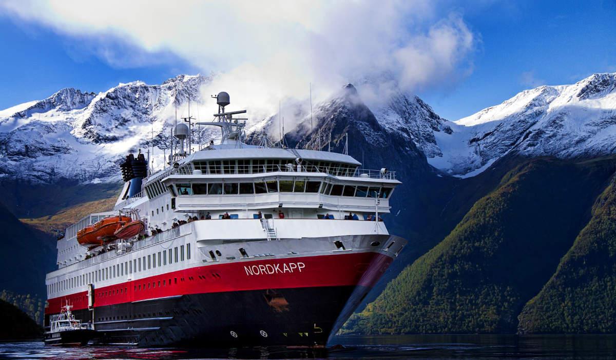 Hurtigruten on the Hjorundfjorden