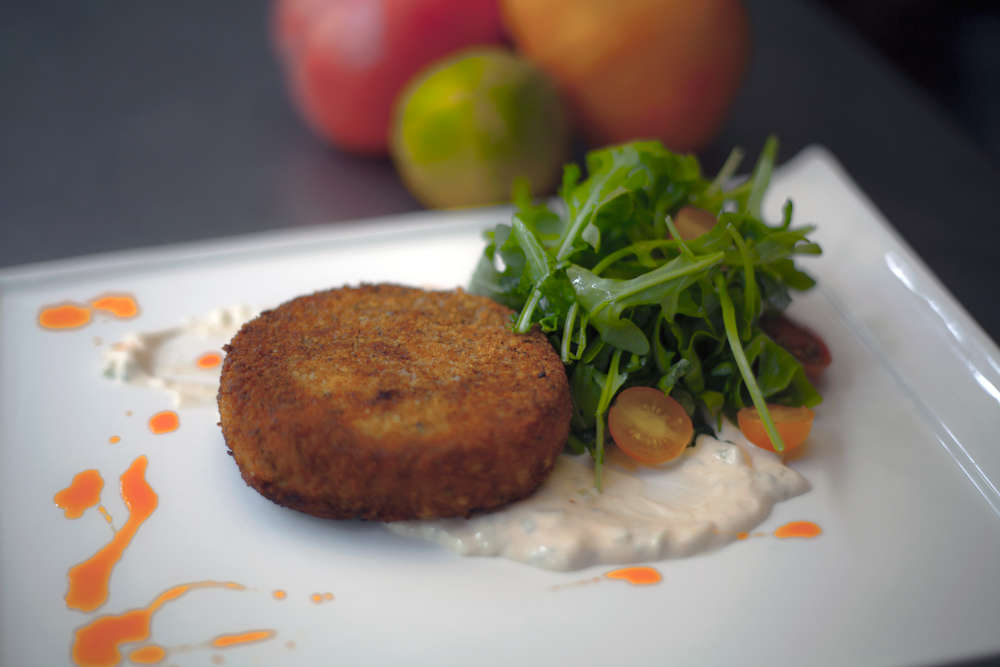 Recipe: Corn Cakes With Cucumber Aioli