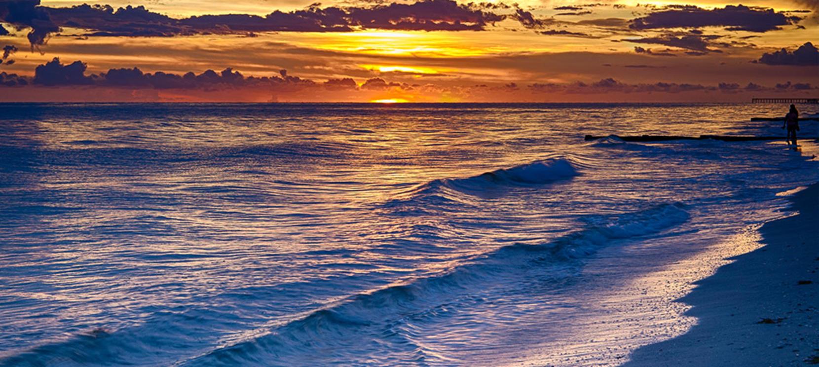 Sunset at Maderia Beach