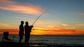 Subversive Sam finds fishing objectionable.