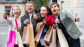 Shopping provides a fleeting high and is not the path to happiness.