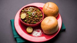 Kheema pav is even more delicious with a poached egg or two.