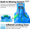 15ft Tall Retro Rainbow Modular Wet / Dry Slide Rentals Houston