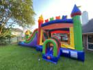 Childrens Rainbow Modern Bounce House Combo
