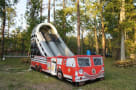 inflatable fire truck slides