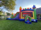 Kids Rainbow Modern Bounce House Combo