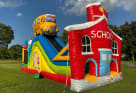 School Bus and House Obstacle