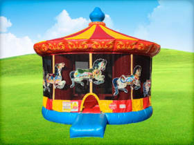 carousel bounce house party