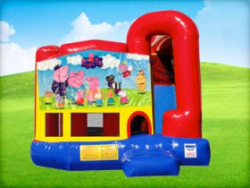 4in1 Peppa Pig Bounce House w/ Wet or Dry Slide