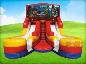 16ft Ninja Turtles Double (Wet/Dry) Slide