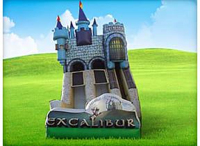25ft Dual Lane Excalibur Slide