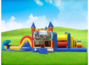 50ft Roblox Obstacle w/ Wet or Dry Slide
