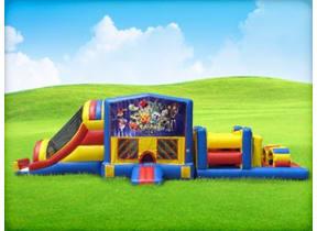 50ft Pokemon Obstacle w/ Wet or Dry Slide