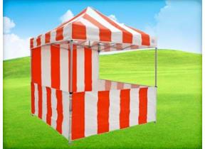 8'x8' Carnival Tent w/ Sidewalls