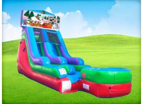 15ft Christmas Retro Wet/Dry Slide