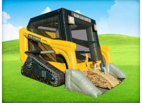 Skid Loader Construction Bounce House