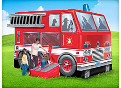 fire truck moonwalk bouncer