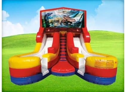 Kids Dinosaur Bounce House Slide