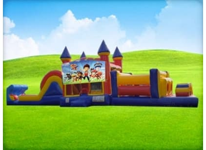 50ft Paw Patrol Obstacle w/ Wet or Dry Slide