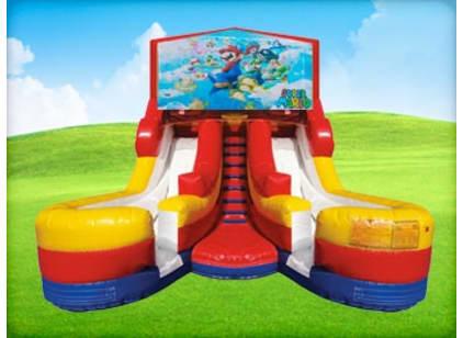16ft Double Lane Mario Slide