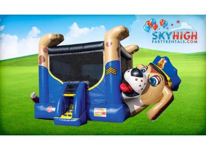 Police Dog Bounce House Rental