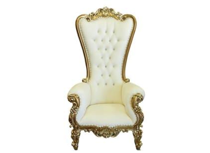 White & Gold - Throne Chair Rental