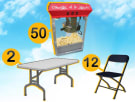 Popcorn Machine 2 tables 12 chairs package