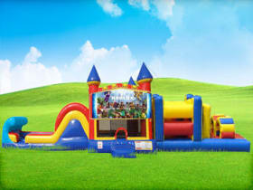 50ft Roblox Bounce House Obstacle w/ Wet or Dry Slide