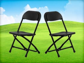 Black Folding Chairs for Children