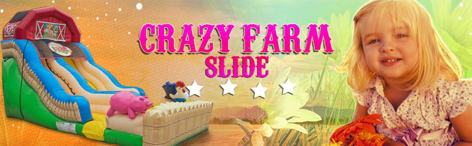 18ft Crazy Farm Slide(Wet & Dry)