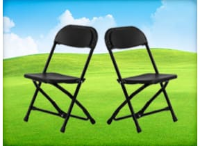 Kids Black Folding Chairs