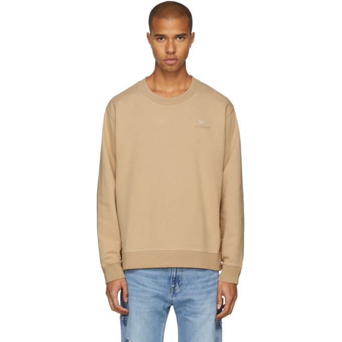 Discount Manchester Low Shipping Fee Online Beige Crystal Crewneck Sweatshirt 032c Discount Cost Clearance Best D9FMU