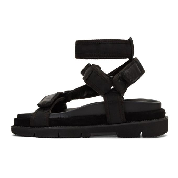 Leather And Suede-trimmed Nylon Sandals - BlackMaison Martin Margiela QZ7abQx17