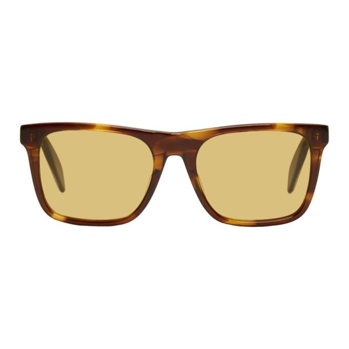 Alexander McQueen Tortoiseshell Rectangular Sunglasses U3qhYgv8c