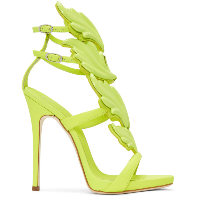 Giuseppe Zanotti Green Coline Wings Sandals hxOimr