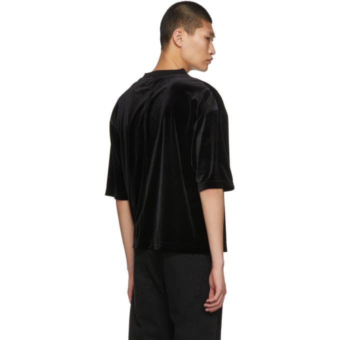 negro bolsillo Camiseta terciopelo con de Sasquatchfabrix de qRTTHawvzE