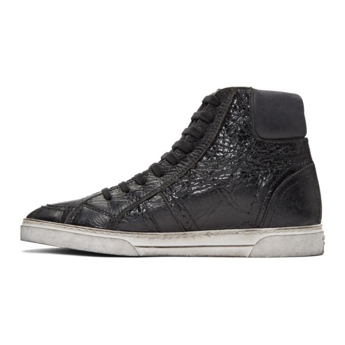 Saint Laurent Black Joe High-Top Sneakers