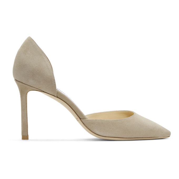Beige Suede Esther 85 Heels Jimmy Choo London W5U7Z6yo0
