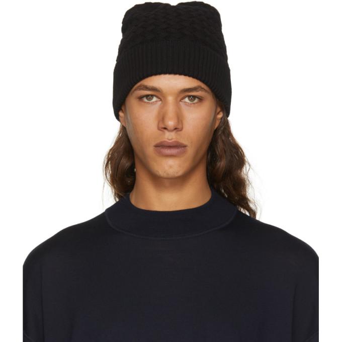 Black Wool Amaranth Beanie Bottega Veneta 9K2C7