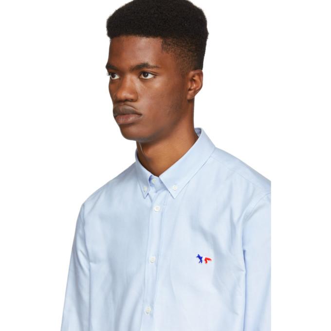 Écusson À Oxford Bleue Maison Chemise Kitsuné wXZukTOiP