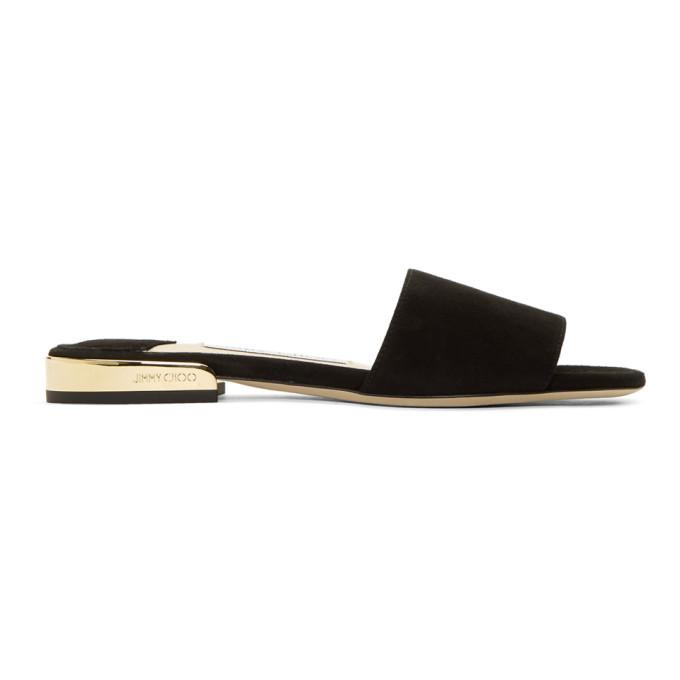 Jimmy choo Suede Joni Flat Sandals B96ES2nVvT