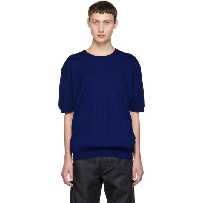 T Maille shirt Miyake En Issey Men Bleu Wrinkle 3A45RjL