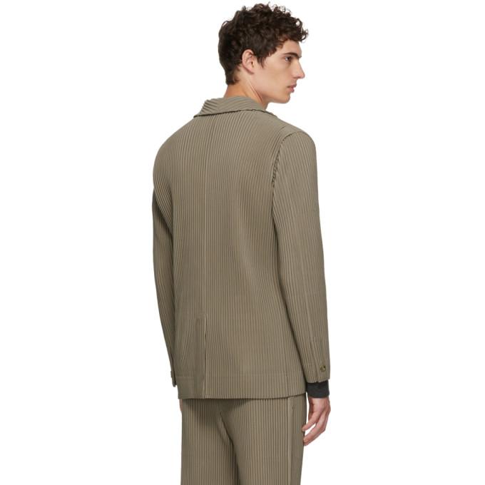 Plissé Homme Miyake Vert Manteau Tailored Pleats Issey lFKJc1T